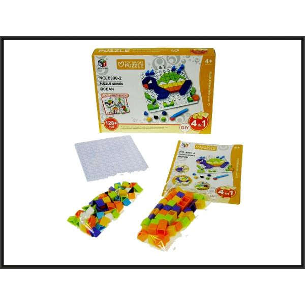 TOY BRICKS PUZZLE 4 in 1, Mozaika-puzle
